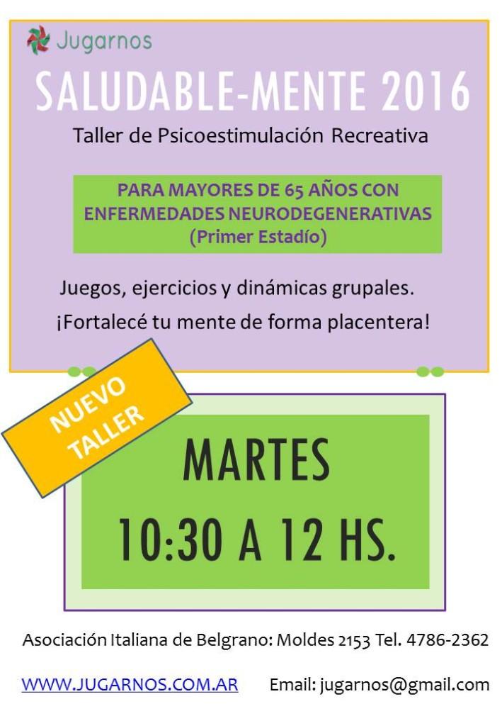 Flyer Saludable-mente 2016